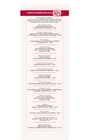 Pompton Queen Menu - Complete Diner Specials