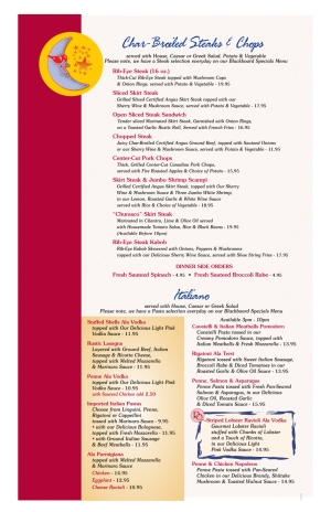 Pompton Queen Menu - Steaks/Chops & Italian