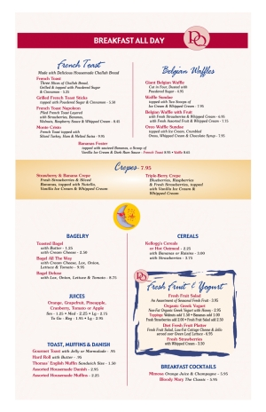 Pompton Queen Menu - Breakfast - 1
