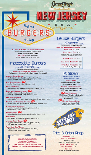 Pompton Queen Menu - Burgers & Fries