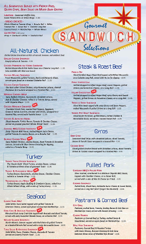 Pompton Queen Menu - Sandwiches 2