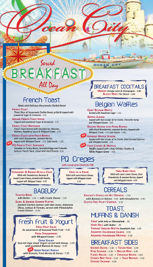 Pompton Queen Menu - Breakfast 1