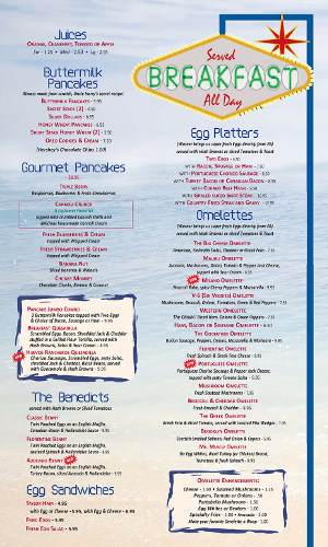 Pompton Queen Menu -Breakfast 2